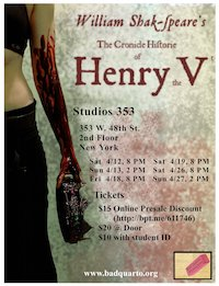 The Cronicle Historie of Henry the Fift poster