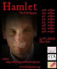 Hamlet: The First Quarto poster